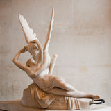Love and Psyche, by Antonio Canova. Love and Psyche, statue by Antonio Canova, at Louvre museum, Paris Royalty Free Stock Photo