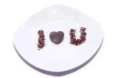 Love pudding Royalty Free Stock Images