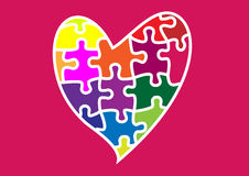 Love is a puzzle Royalty Free Stock Images