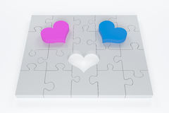 Love puzzle Stock Photos
