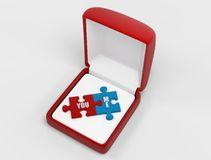 Love puzzle Stock Photos