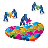 Love puzzle.  illustration in vector format Stock Photography