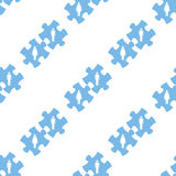 Love puzzle seamless pattern. Love puzzle white and blue seamless pattern for web design. Vector symbol Stock Photo