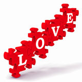 Love Puzzle Showing Couples In Love. And Weddings Royalty Free Stock Image