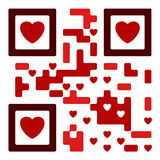 Love qr code. Fully functional Royalty Free Stock Images