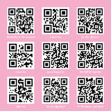 Love QR codes Royalty Free Stock Image