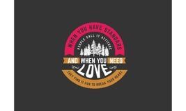 Love quote Stock Image