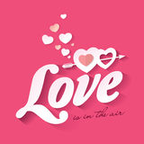 Love. Quote poster.  is in the air Stock Photography