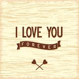 Love quote poster flat design Royalty Free Stock Photos