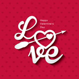 Love. Quote poster. Happy Valentine's Day Royalty Free Stock Images
