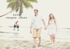 Love Quotes Romance Valentines Website Concept. Young Couple Love Quotes Romance Valentines Website Stock Photography