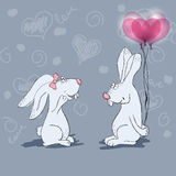 Love rabbits Royalty Free Stock Photos