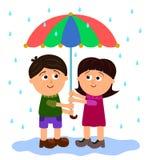Love in the rain Royalty Free Stock Photo