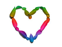 Love rainbow heart Stock Photos