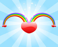 Love rainbows. Of love concept Royalty Free Stock Photography
