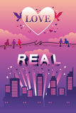 Love is real design Royalty Free Stock Image