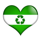 Love Recycling button Stock Image