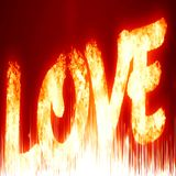 Love. Red love background with some glitter and sparkle Royalty Free Stock Image