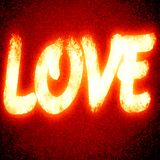 Love. Red love background with some glitter and sparkle Royalty Free Stock Photo
