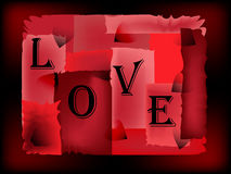 LOVE-red background Royalty Free Stock Images