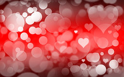 Love red bokeh Royalty Free Stock Images
