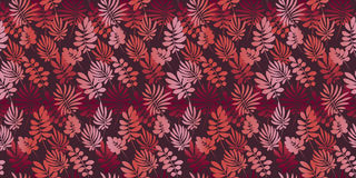 Love red color tropical leaves seamless pattern Stock Photo