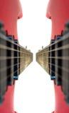Love red guitars ! Stock Photo