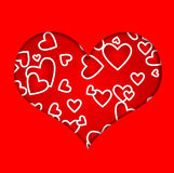 Love, red heart Stock Photo