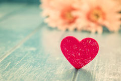 Love red heart Stock Images