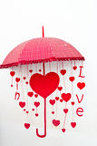 In love (Red heart-shaped) Royalty Free Stock Image