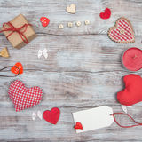 Love, red heart and Valentine`s Day Stock Photos