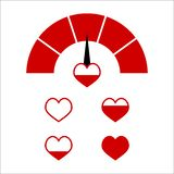Love red indictor, Vector full love heart stock image