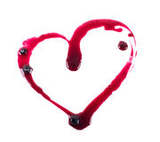 Love red Jam in the form of heart isolated on Stock Image