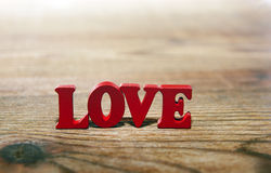 Love red   letters Stock Photography
