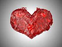 Love - Red liquid heart shape Royalty Free Stock Images