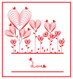 Love red plant card Royalty Free Stock Photos