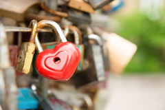 Love red romance lock Royalty Free Stock Photo