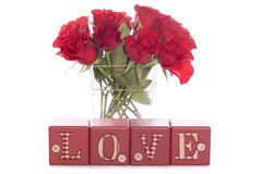 Love red roses Stock Image
