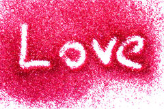 Love in red sugar Stock Photos