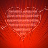 Love related words concept. Vector elegant illustration stock illustration