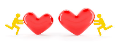 Love relationship concept Royalty Free Stock Photos