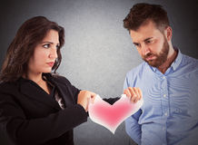 Love relationship ended Royalty Free Stock Image
