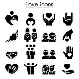 Love, Relationship, Friend, Family icon set. Vector illustration graphic design Stock Images