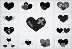 Love relationship icon Stock Image