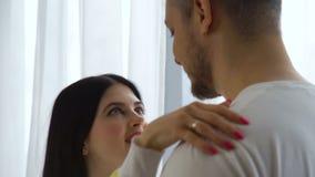 Love relationship romance couple communication. Love relationship romance. couple communication. woman talking stock video footage