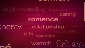 Love and Relationship Words Loop