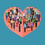 Love relationships between man and woman conceptual illustration vector illustration