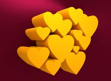 Love relative background. Heart shapes group Royalty Free Stock Images