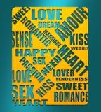 Love relative background Stock Image