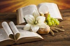 Love religion for christianity background. Eucharist, sacrament of communion background stock photos